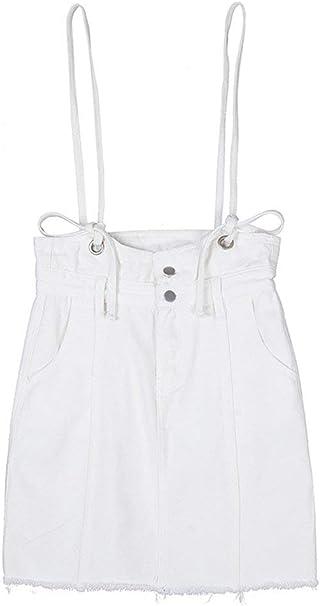 Faldas Mujer Hombre A Line Esencial Falda Mini Plisada Jeans Falda ...