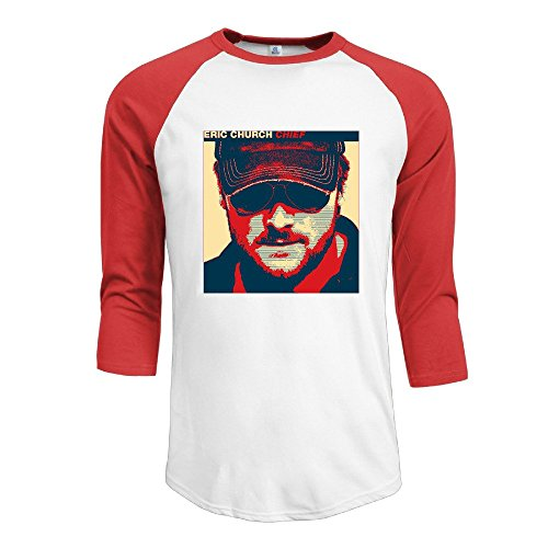 Duola Men's Baseball T Shirt Chief Album Cover Size XL Red (What Guys Like On Valentines Day)