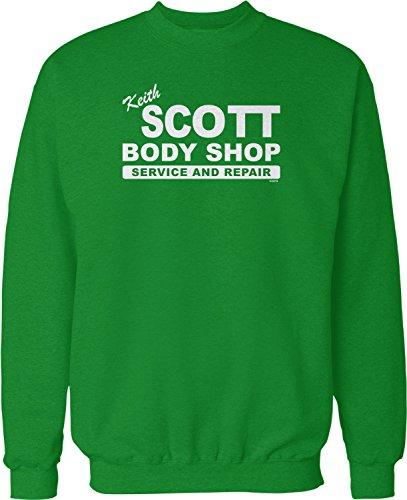 NOFO Clothing Co Keith Scott Body Shop Crew Neck Sweatshirt, S Kelly