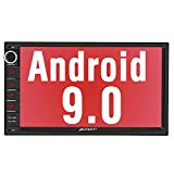 PUMPKIN Android 9.0 Car Stereo Double Din with GPS, WiFi, Support Fastboot, Backup Camera, Android Auto, AUX, USB SD, 7 Inch Touch Screen