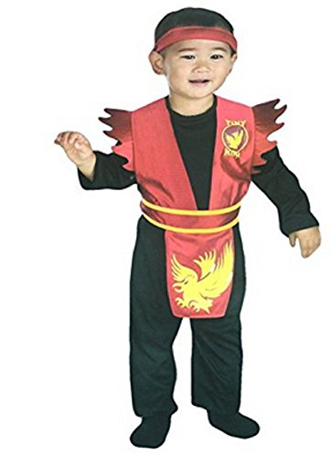 Disguise Little Red Fighting Ninja Costume with Headband (3T-4T) (Toddler Ninja Costume)