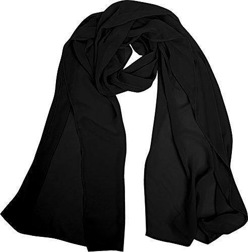Angel-fashions Women's Soft Lightweight Chiffon Shawl Wrap Scarf Stole (Angel Fashion Accessories)