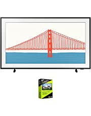 Samsung QN43LS03AA 43 Inch The Frame QLED 4K Smart TV (2021) Bundle with Premium 4 Year Extended Protection Plan
