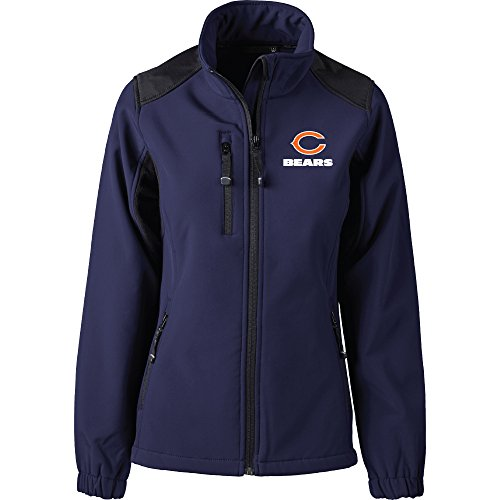 Dunbrooke Apparel NFL Chicago Bears Women's Softshell Jacket, Large, Navy
