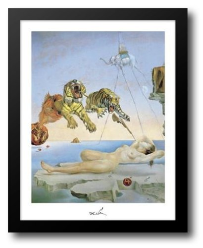 Dream Caused by the Flight of a Bee Around a Pomegranate, A Second Before Awakening 15x18 Framed Art Print by Dali, Salvador (Salvador Dali Artwork)