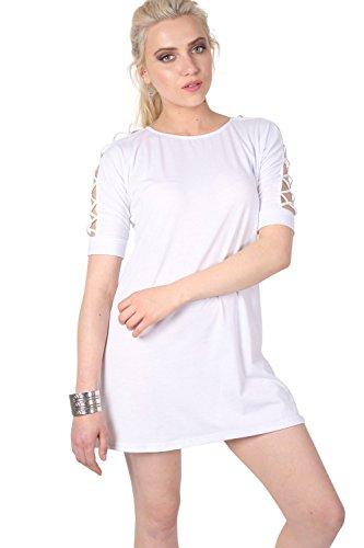 Pilot vestido de la camiseta de desplazamiento celosía detalle de la funda blanco