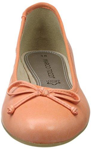 22107 Marco Damen Coral Rot Tozzi Ballerinas 563 Geschlossene Premio Ptq6w1