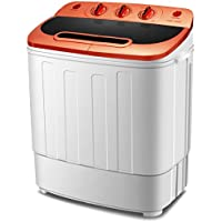 Do mini Portable Mini Compact Twin Tub 13Ibs Capacity Washing Machine and Spin Dryer