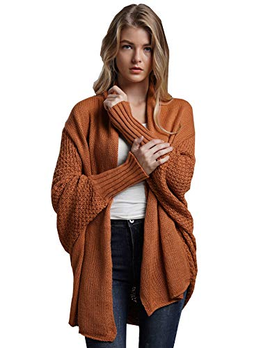 igans Batwing Long Sleeve Knit Sweater Casual Loose ()