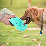 pedy Dog Water Bottle, Pet Travel Water Bottle with ABS Food Grade Small Dog Travel Outdoor Water Drinking Bottle 18OZ, Blue