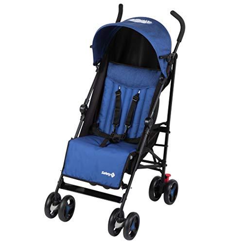 Safety 1st Rainbow Silla de Paseo ultraligera pesa solo 6,6 kg, Plegable y compacta, Reclinable de multi posiciones, reposapies adjustable, color blue Chic