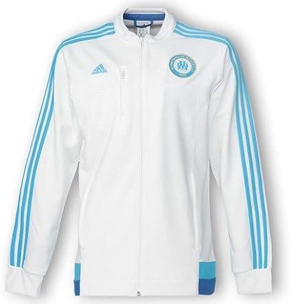 Veste d'hiver olympique de marseille bleu Adidas édition