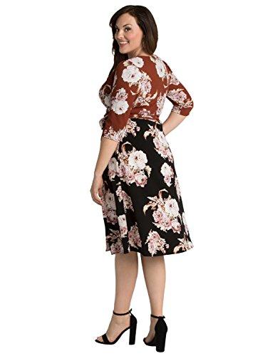 Kiyonna Women's Plus Size Wendy Wrap Dress 2X Sienna Bouquet
