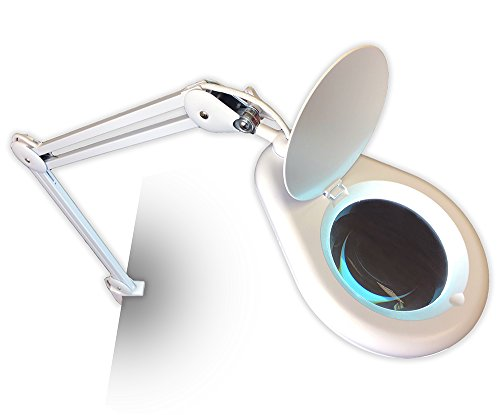 (Quantum Precision Ultra-Efficient 60 SMD 12 watt LED Spring-Arm Magnifier Lamp with)