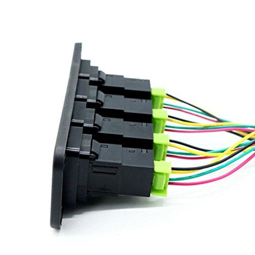 KESOTO ドライビングライトゾンビライト作業用ライトLEDライトバー4ギャングスイッチパネル