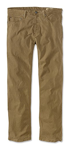 Orvis Men's 5-Pocket Stretch Twill Pants, Field Khaki, 36, Inseam: 34 inch - Blended Twill Pants