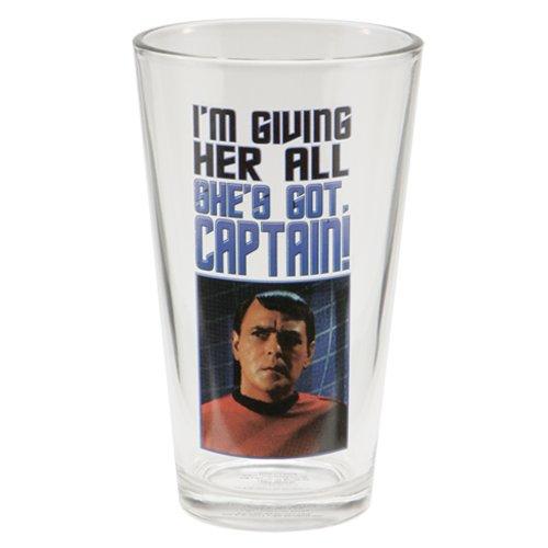 Vandor 80779 Star Trek 4 pc 16 oz Glass Set, Multicolor