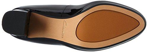 para Tacón Kelda Mujer de Negro Pat Black Zapatos Hope Clarks Pw4qvTZ