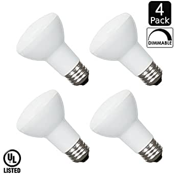 Luxrite LR31804 (4-Pack) 8-Watt LED BR20 Flood Light Bulb ...
