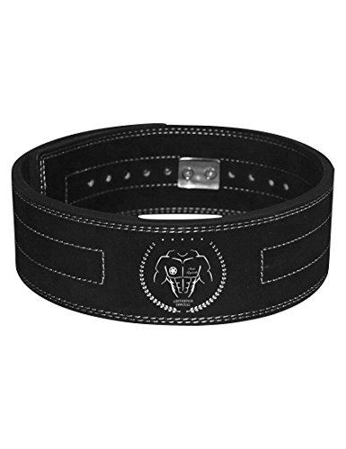 Aesthetics Official Lever Buckle Weight Lifting Powerlifting Belt Genuine Leather 10mm Premium Competition Rated