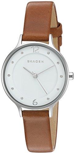 Skagen Women's SKW2399 Anita Dark Brown Leather Watch
