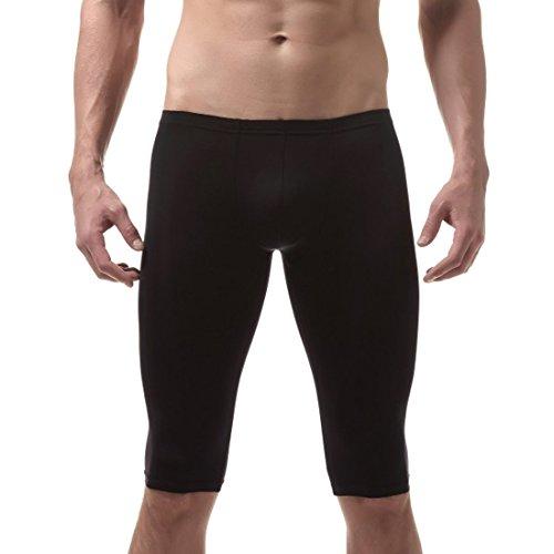 al Pantaloni ragazzo ginocchio neri in estesi termici da moichien Ai Pantaloncini stile in uomo Baselayer seta Pantaloncini intimo xUqHW71