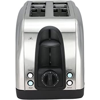 Toaster - 2 Slice Stainless Steel Toaster with Illuminated LED Buttons (RJ06) by Chefman