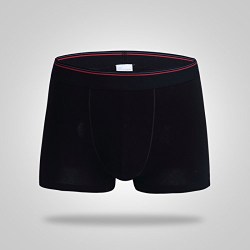 JIMBERT Mens I Am Sherlocked Sexy Seamless Stretchable Boxer Underwear Panties Brief Black M
