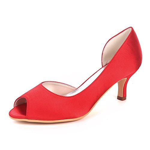 Y1195 Bombas Tac De De Peep Sandalias Toe Zapatos Las Flower Mujeres Ager 08 Fqw5gR