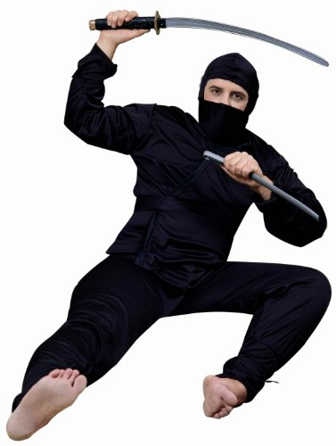 Forum Complete Ninja Costume, Black, One Size]()