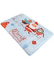 Amosfun Kerst Vloermatten Pvc Cartoon Kerstman Deurmatten Antislip Vloerkleed Voor Open Haard Hotel Keuken Slaapkamer Thuis Hal Decoratie