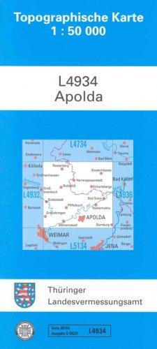 Topographische Karten Thüringen Bl.55 Westlicher Thüringer Wald (Topographische Karten 1:50000 (TK 50) Thüringen (amtlich))