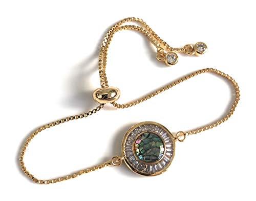 Modern Bracelets for Women 18K Gold Plated Adjustable Clasp