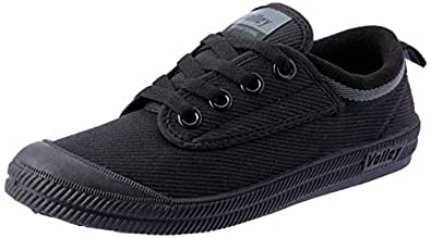 Volley International Canvas Unisex Adults Casual Shoes, Black/Dark Gr, 3 US