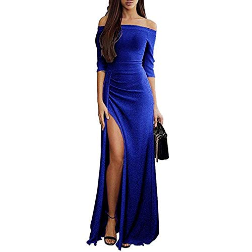 (iOPQO Women's Dress, Ladies Wedding Princess Off Shoulder Long Evening Party Long)