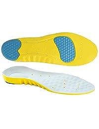 SOUMIT Sport Insoles - Massage PU Shoe Pads, Shock Absorption Silicone Gel Heel Cushion Pads Insert for Women & Men
