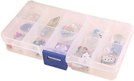 FiedFikt Joyero de plástico con 10 Ranuras para Guardar Joyas, Joyas, Anillos, Pendientes, Collares, Pulseras, Joyas, Expositor: Amazon.es: Hogar