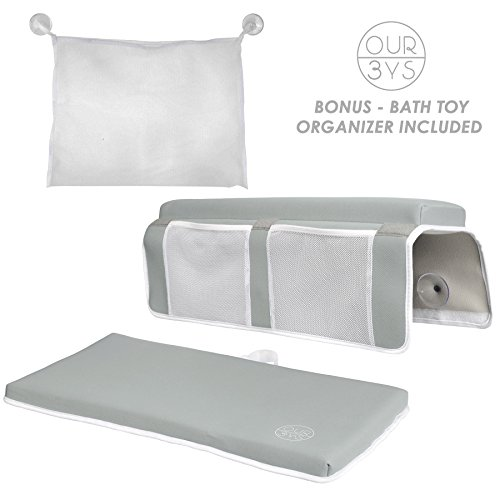 Elbow Rest & Kneeling Pad for Bathtub: Baby Bath Comfort Kneeler & Arm Cushion