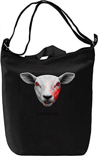 Demon Sheep Borsa Giornaliera Canvas Canvas Day Bag| 100% Premium Cotton Canvas| DTG Printing|