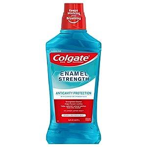 Best Epic Trends 41595K1UzZL._SS300_ Colgate Enamel Health Mouthwash, Fresh Mint - 1L, 33.8 Fluid Ounce