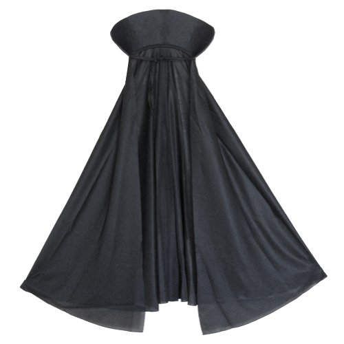 Phantom Girl Costume (SeasonsTrading Child Black Vampire Cape with Collar ~ Halloween Kids Black Cape)