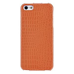 Dragon Scale PU Flip Case with Interior Flocking Protection for iPhone 5/5S (Optional Colors) --- COLOR:Yellow