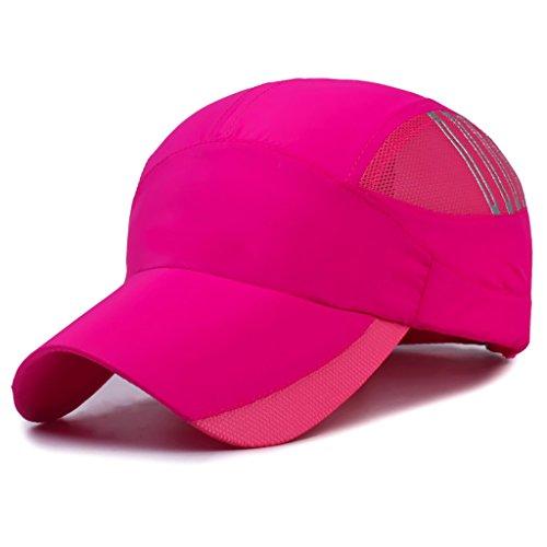 スパイ畝間荒涼としたメンズキャップメンズサマークイックドライサンハットバイザー通気性の野球帽 (色 : B, サイズ さいず : 56-59cm)