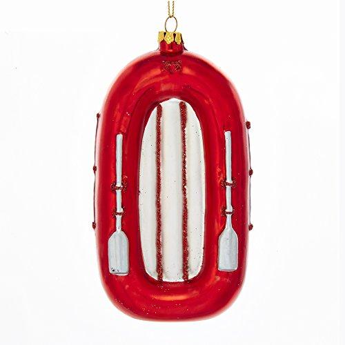 Raft Ornament (Kurt Adler NOBLE GEMS GLASS WHITE WATER RAFT ORNAMENT)