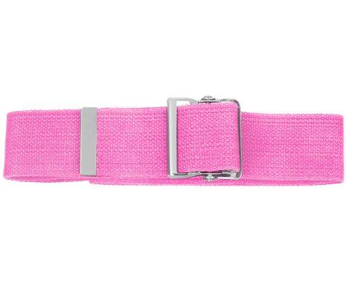 - Prestige Medical Cotton Gait Belt with Metal Buckle, Hot Pink