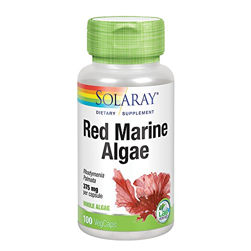 Solaray Red Marine Sea Algae 375mg | Sea Vegetable Supplement | Healthy Immune Function & Skin Support | Non-GMO | Vegan | Lab Verified | 100 VegCaps