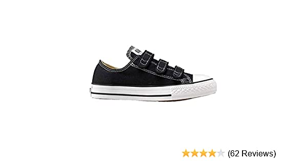 CONVERSE Chuck Taylor All Star 3 Strap Low Black White Canvas Girls Shoes 3V603