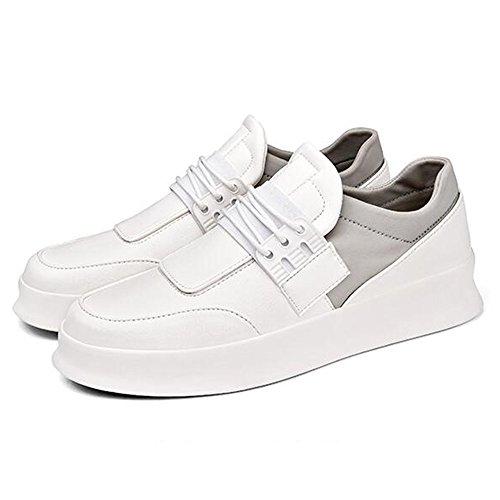 Leisure EU42 Shoes UK8 CN43 Bottom Size Men's Shoes Multiple Wear Size Resistant Plate Thick White 2 Choice Feifei 5 Colours Color wSqET
