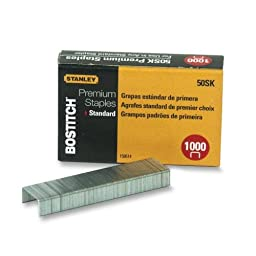 Wholesale CASE of 25 - Bostitch Premium Standard Staples-Standard Staples, 1/4\