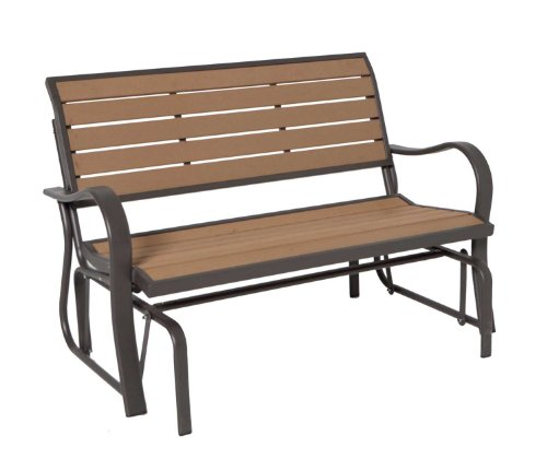 Lifetime 60055 Outdoor Glider Bench, 4', Walnut Brown
